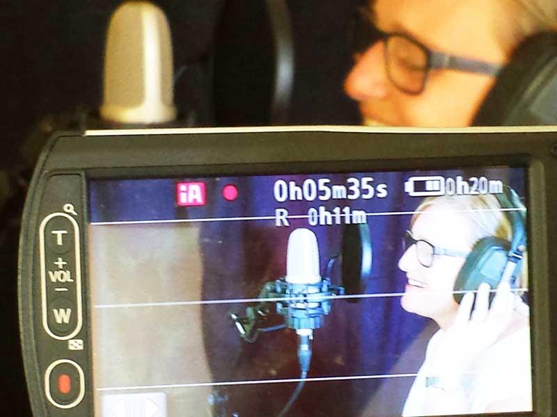 """Videodreh für das """"Making-Of"""" Video in der Aufnahme-Session """"Profi"""""""