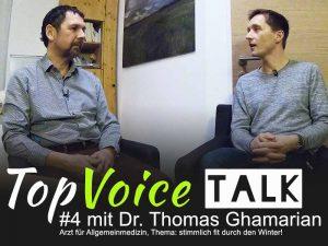 Doktor Thomas Ghamarian, Facharzt für Allgemeinmedizin aus Plesching bei Linz im Gespräch mit Andreas Lanegger von der TopVoice Gesangsschule